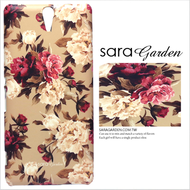 【Sara Garden】客製化 手機殼 HTC M8 低調 碎花 玫瑰花 保護殼 硬殼 限定