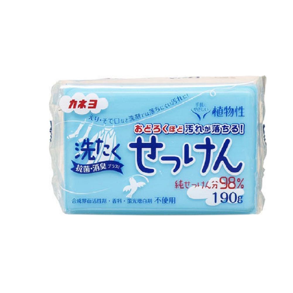 【買六送六】日本KANEYO強力除垢衣物去污皂190g共12入