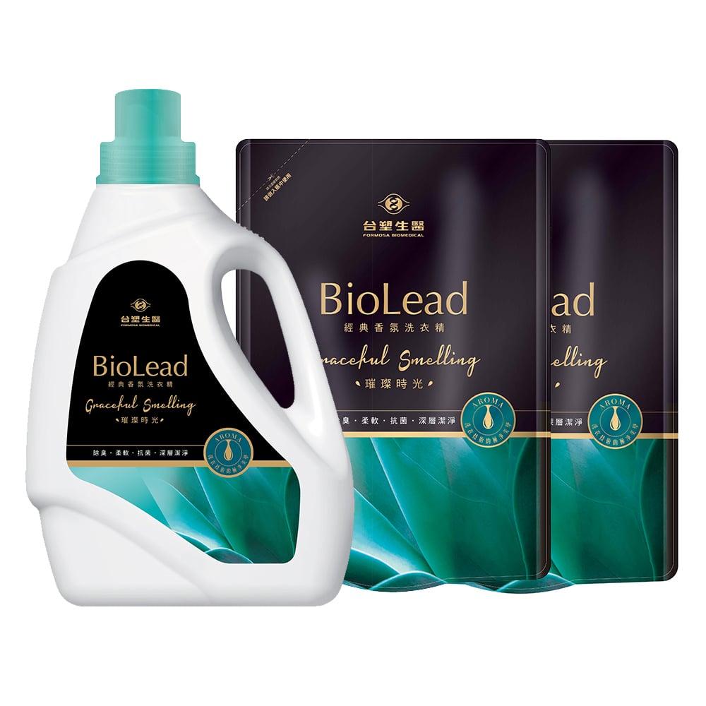 《台塑生醫》BioLead經典香氛洗衣精 璀璨時光*(1瓶+2包)