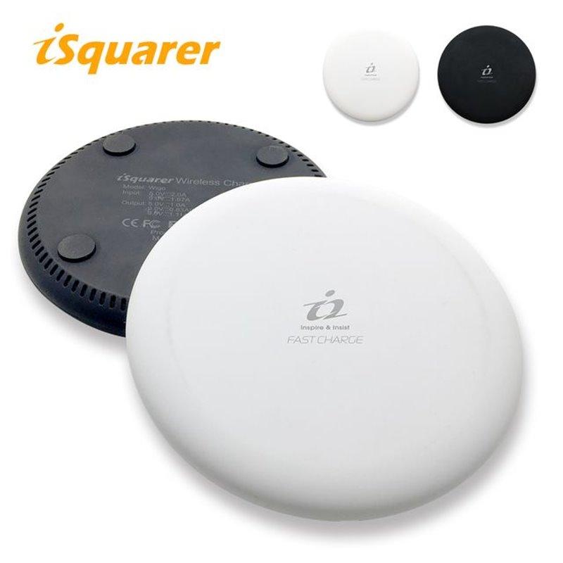 iSquarer WIGO 雙規晶片兩用無線快充盤 - 黑色