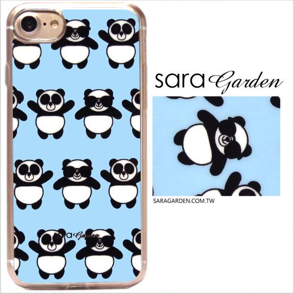 【Sara Garden】客製化 軟殼 蘋果 iphone7plus iphone8plus i7+ i8+ 手機殼 保護套 全包邊 掛繩孔 可愛墨鏡熊貓