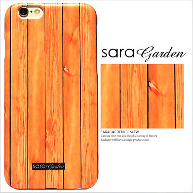 【Sara Garden】客製化 手機殼 蘋果 iPhone6 iphone6S i6 i6s 4.7吋 高清 質感木紋 保護殼 硬殼 限定