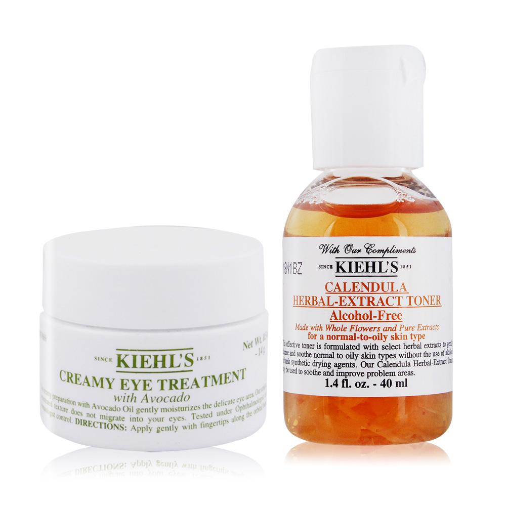 KIEHL'S 契爾氏 酪梨眼霜(14g)+金盞花植物精華化妝水(40ml)