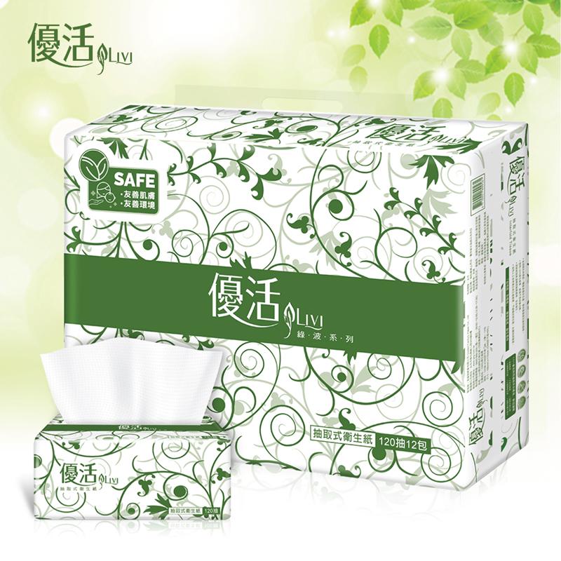 Livi 優活 抽取式衛生紙120抽12包6袋