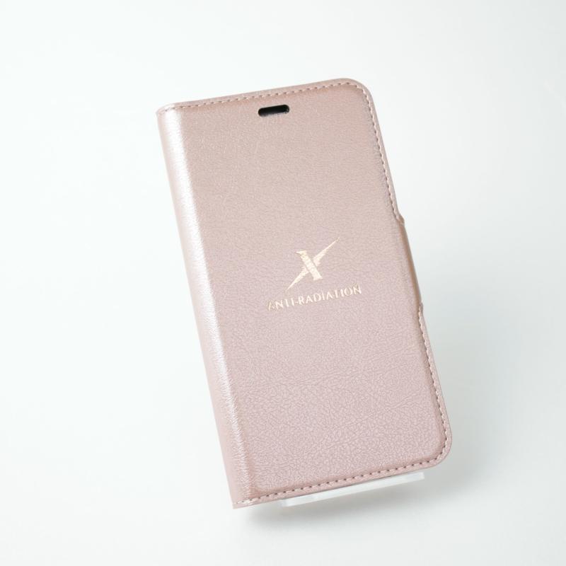 Moxie iPhoneX 360度旋轉側掀皮套 粉