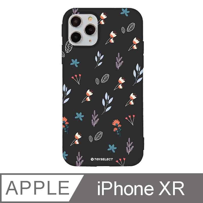 iPhone XR 6.1吋 花言花語Flower Series設計iPhone手機殼 鄉村小野花 時尚黑