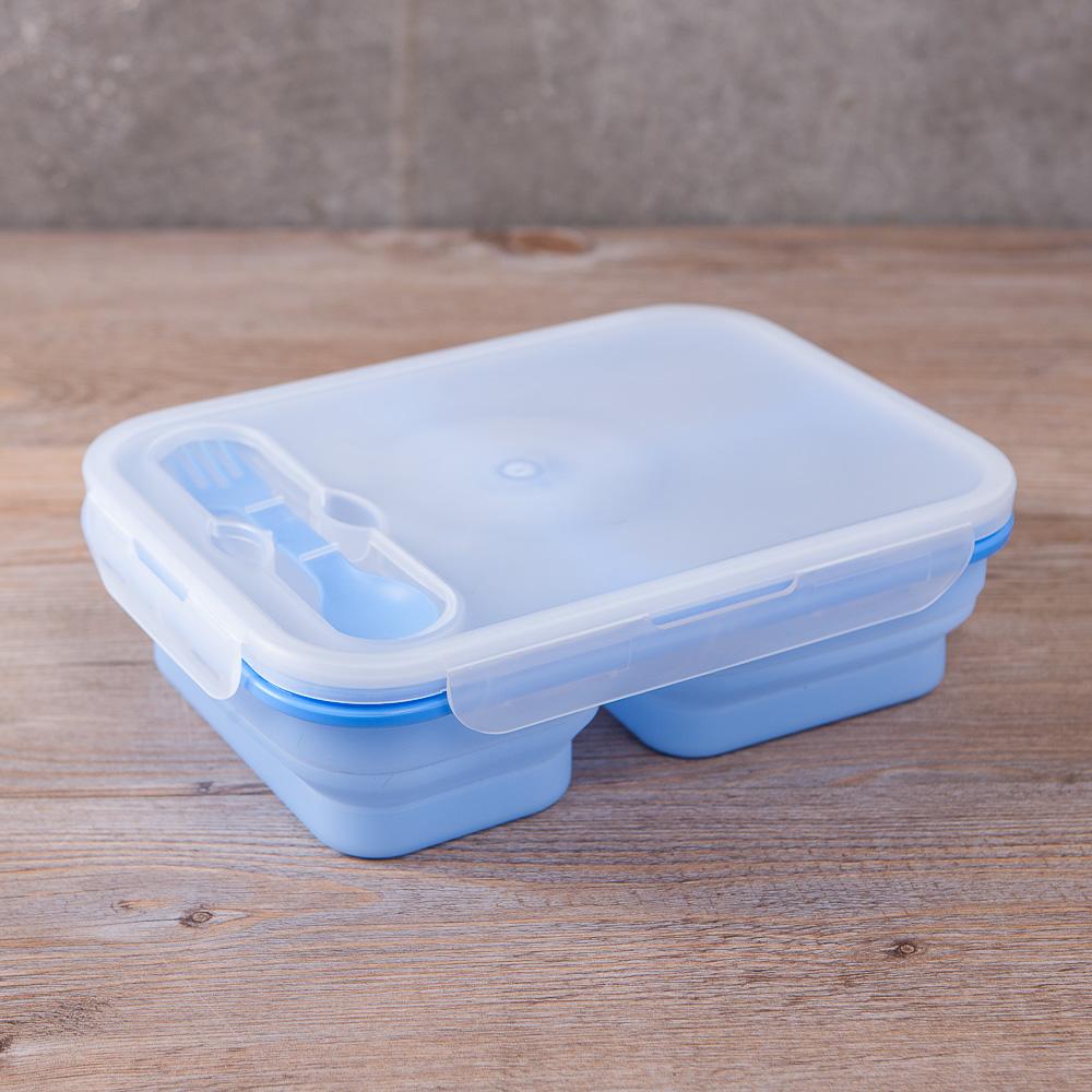 輕巧分隔摺疊餐盒1200ml-生活工場