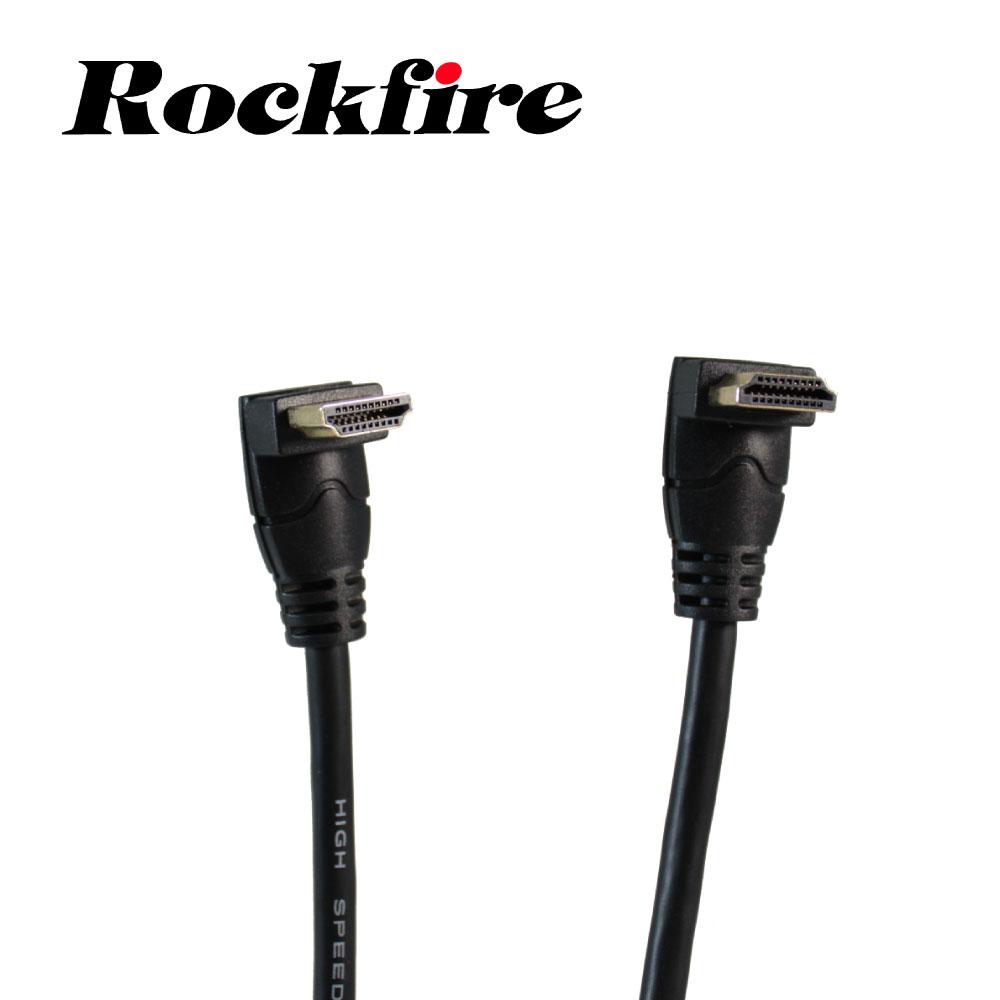 Rockfire上下彎型 HDMI 2.0影音傳輸線1.8M