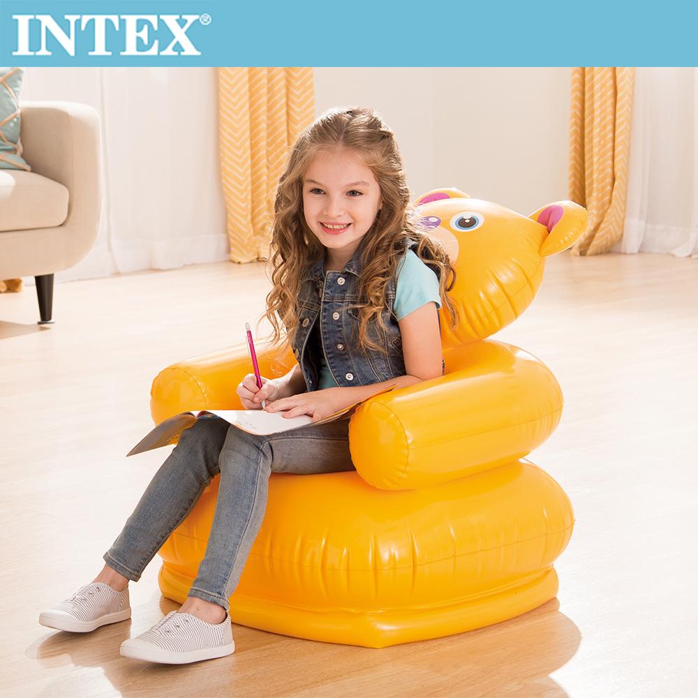 【INTEX】可愛動物兒童充氣椅-小熊(68556)