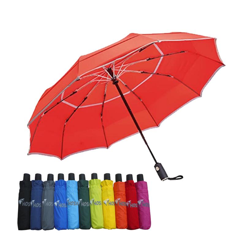 【HOSA】安全雙反光自動傘-紅色