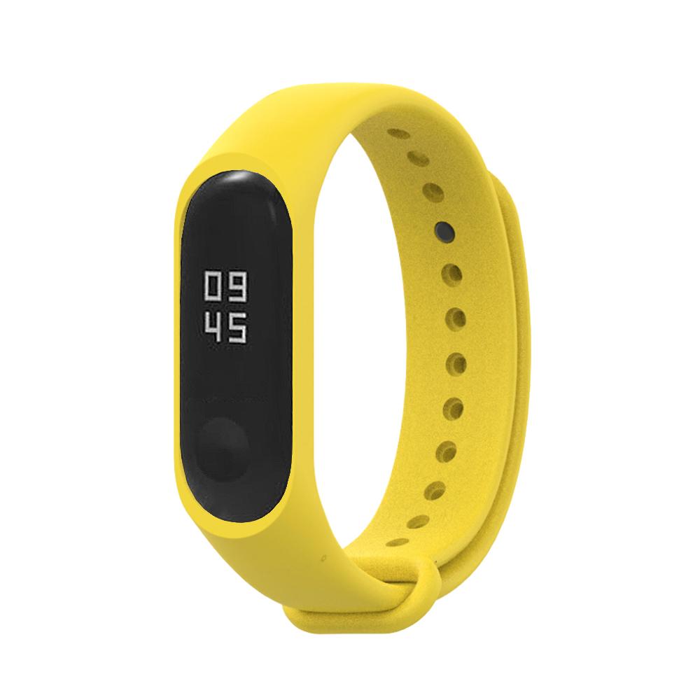小米手環6代/5代/4代/3代通用 矽膠運動替換錶帶-黃色