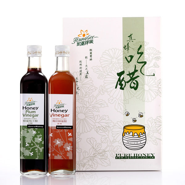 《宏基》禮盒(真蜂+吃醋)(500ml一瓶,共兩瓶)