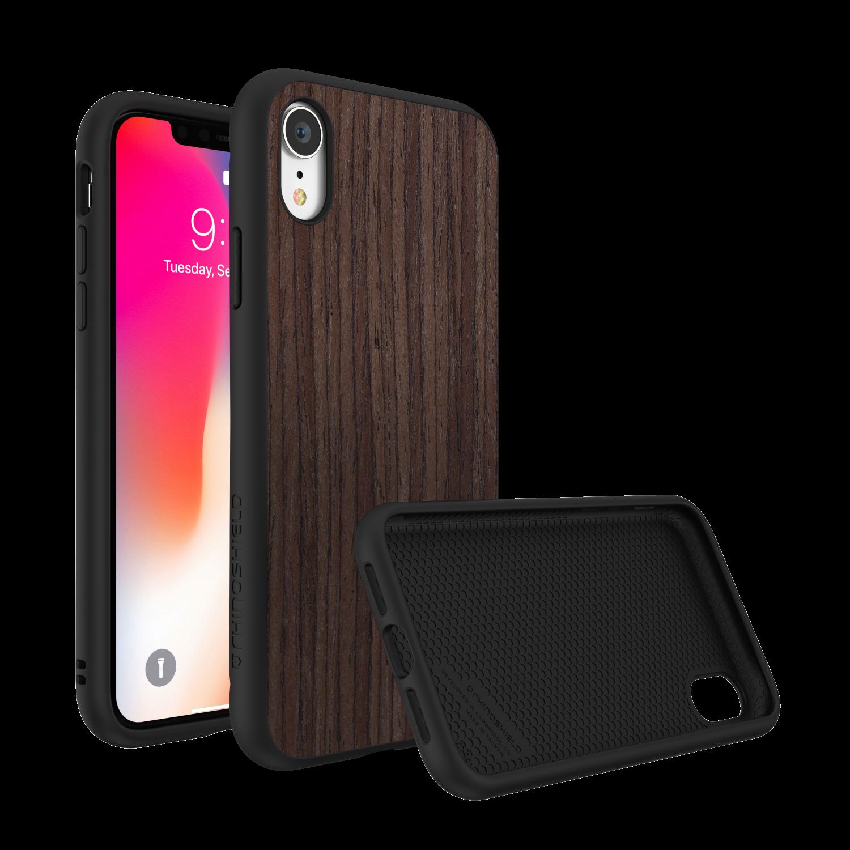 犀牛盾 SolidSuit防摔背蓋手機殼 iPhoneXR胡桃木紋 棕色/黑