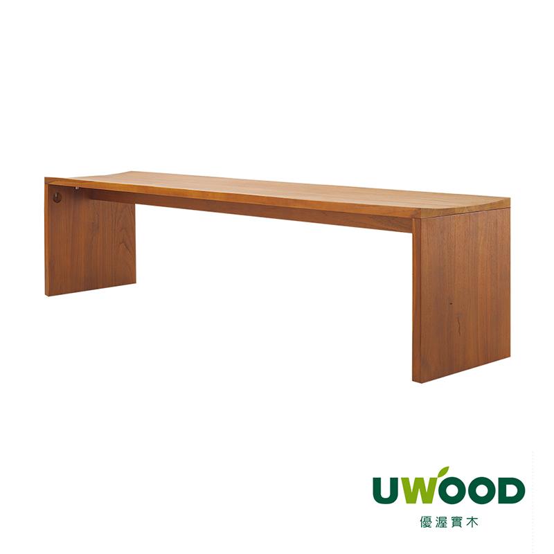 【UWOOD 優渥實木】柚木長餐椅-106cm WMCH30T1