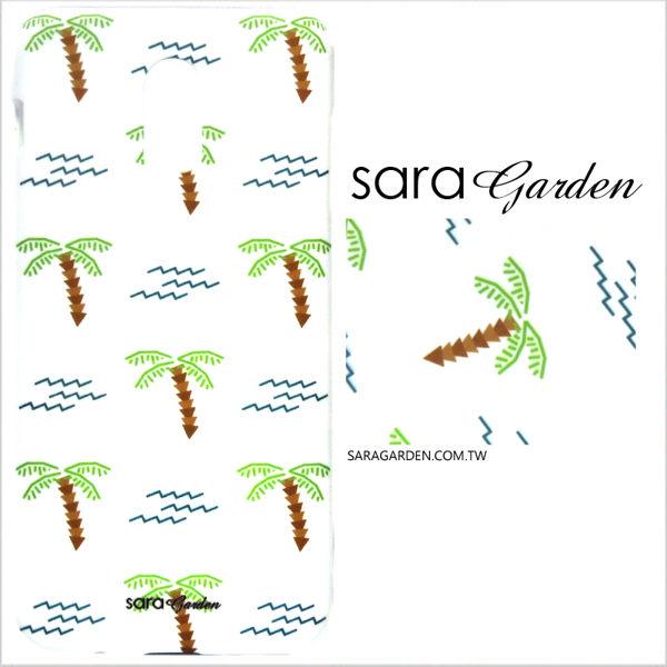 【Sara Garden】客製化 手機殼 Samsung 三星 A8Plus A8+ 2018 手繪椰子樹 保護殼 硬殼