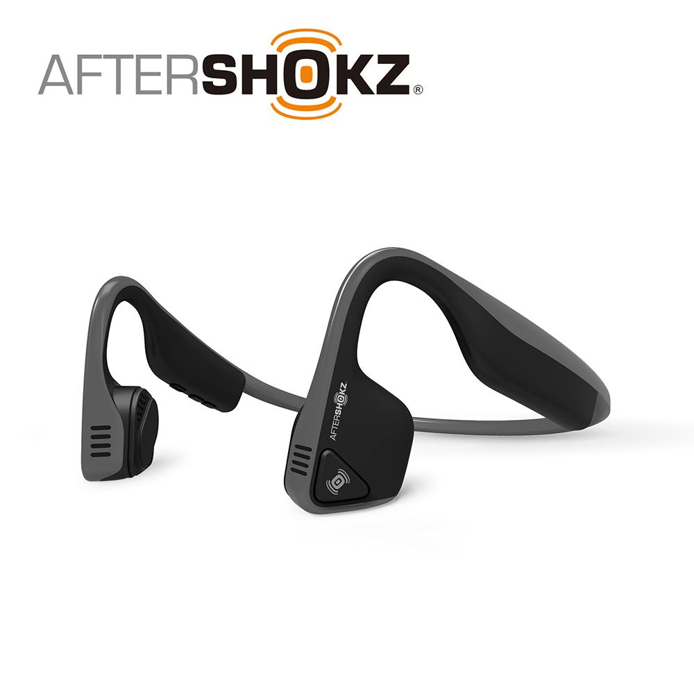 骨傳導耳機的領導品牌 AFTERSHOKZ Trekz Titanium AS600骨傳導藍牙運動耳機(板岩灰)