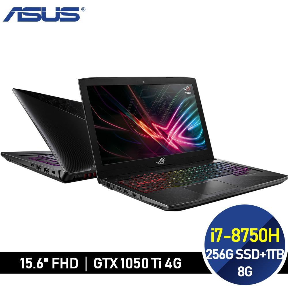 ASUS ROG STRIX 電競 GL503GE-0101B8750H (i7-8750H/8G/256G NVMe SSD+1T/GTX1050 Ti)