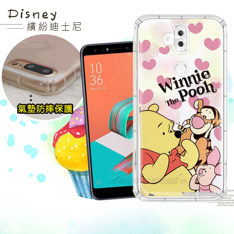 迪士尼授權正版 ASUS ZenFone 5Q ZC600KL 繽紛空壓安全手機殼(維尼)