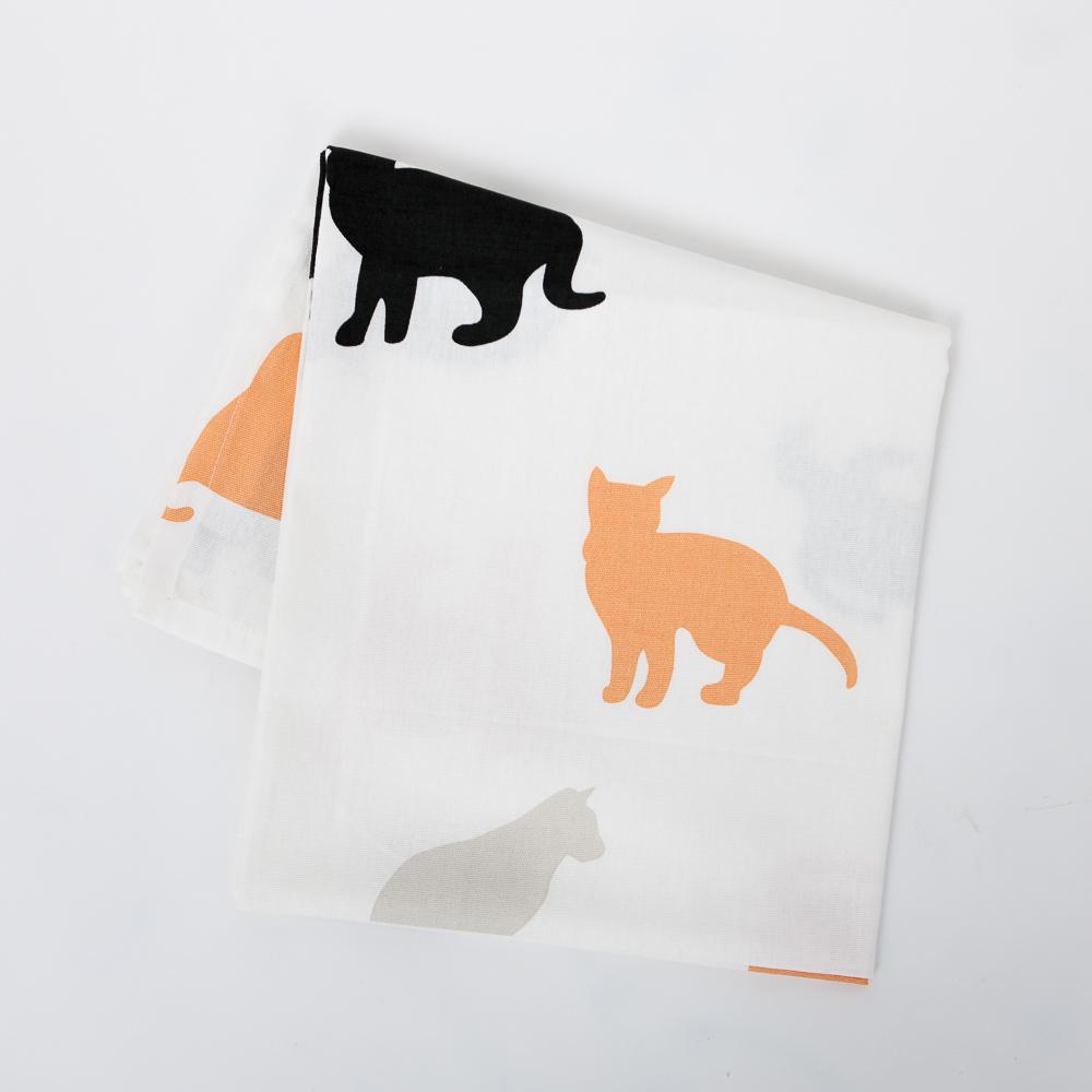 優雅貓桌巾120x120-生活工場
