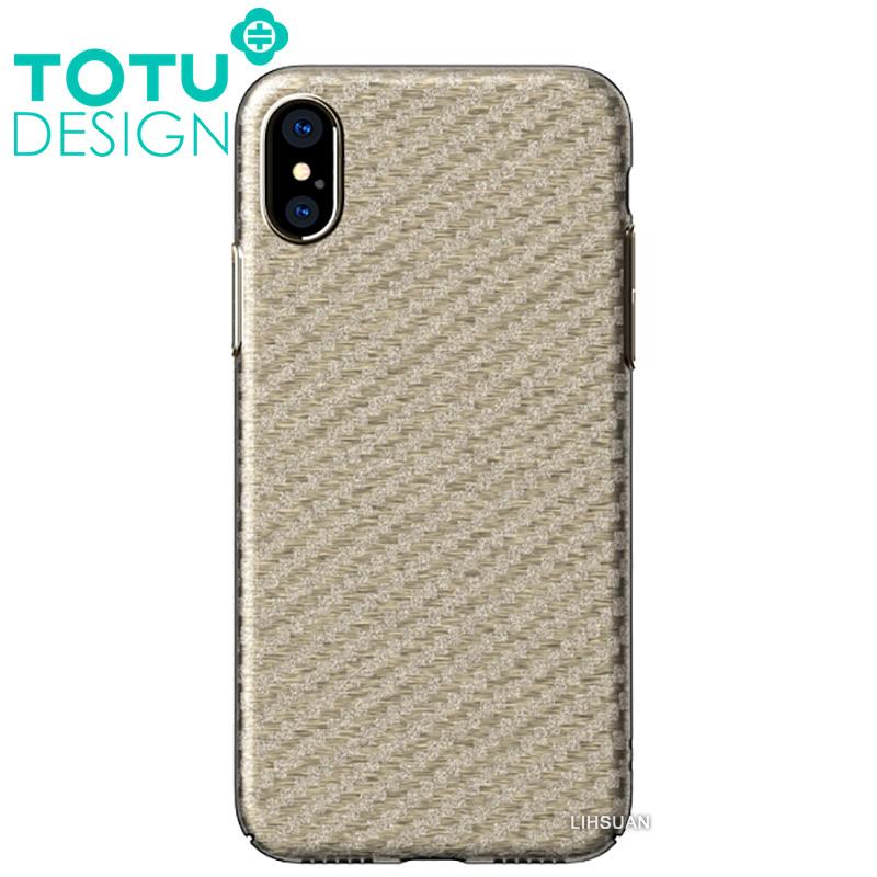 【TOTU台灣官方】iPhoneX碳纖紋手機殼 雅典娜系列 金色