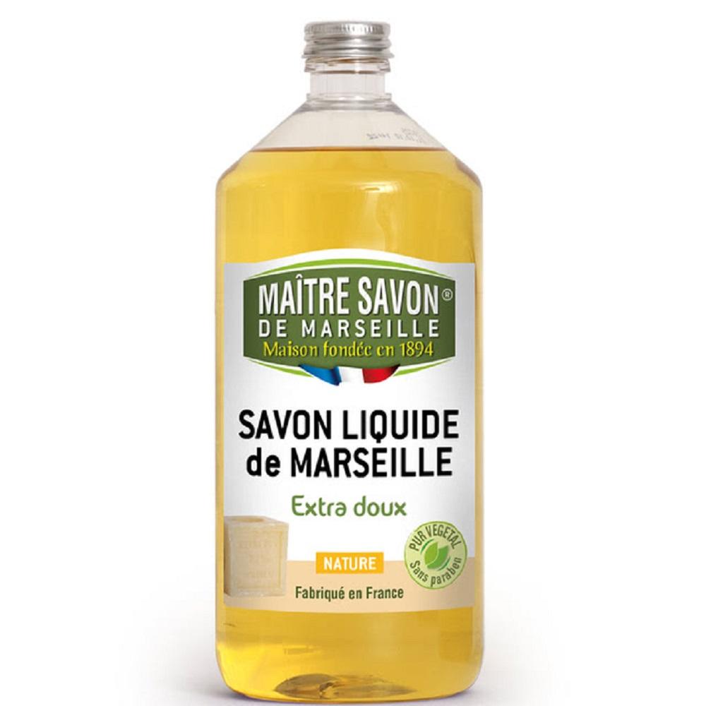 法國玫翠思 馬賽液體皂1000ML-經典皂香x2入