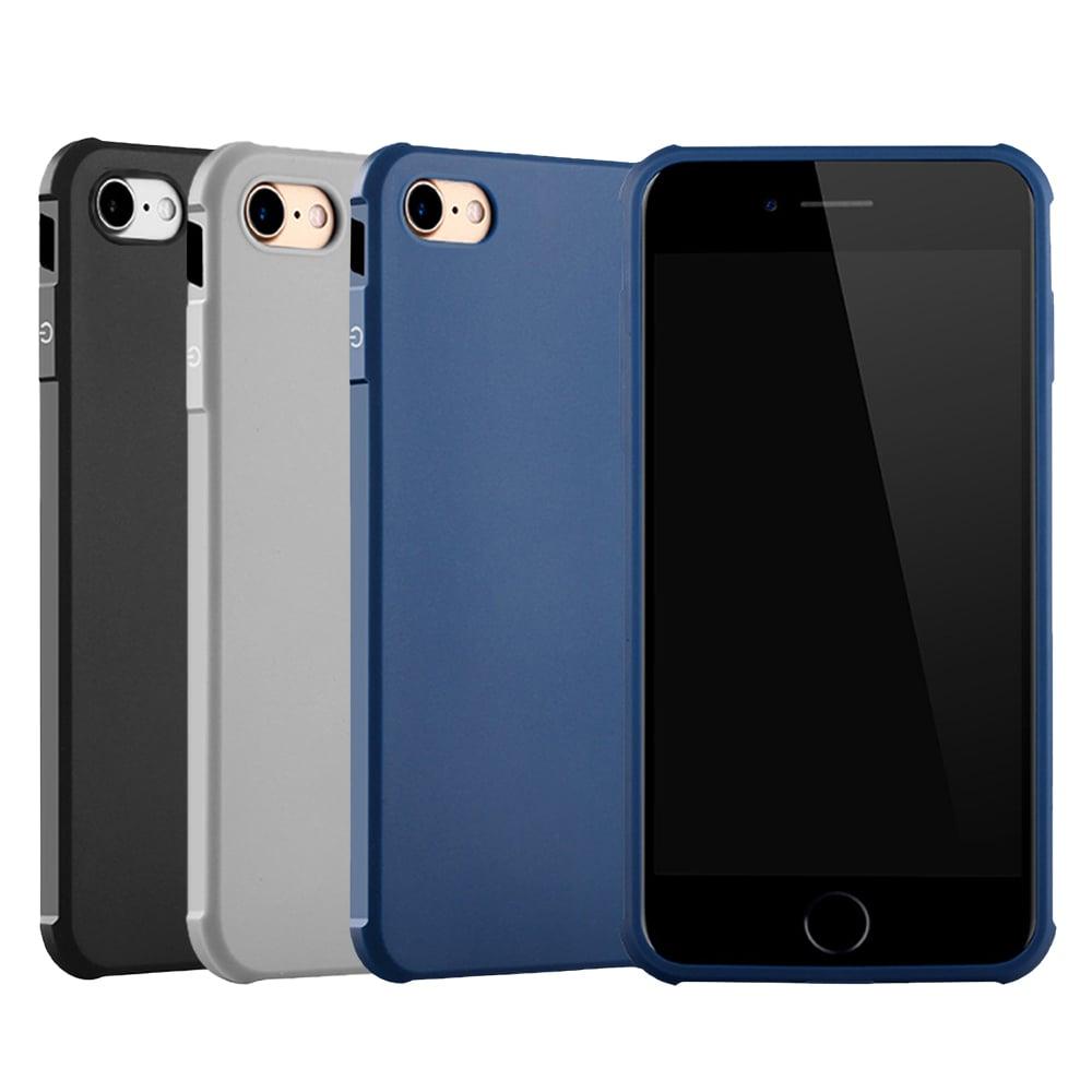 QinD Apple iPhone 8/7 刀鋒保護套(淺灰)