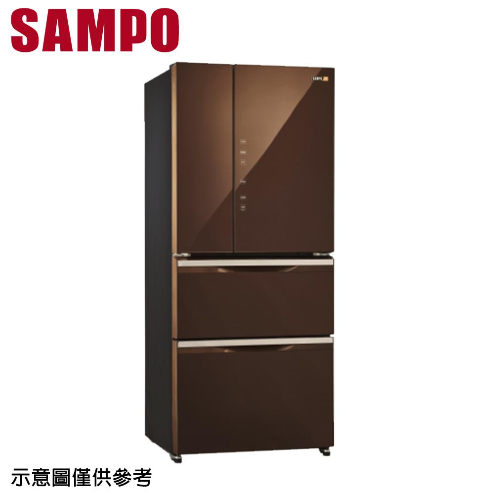 好禮送【SAMPO聲寶】560公升變頻玻璃四門冰箱SR-A56GDD(R7)