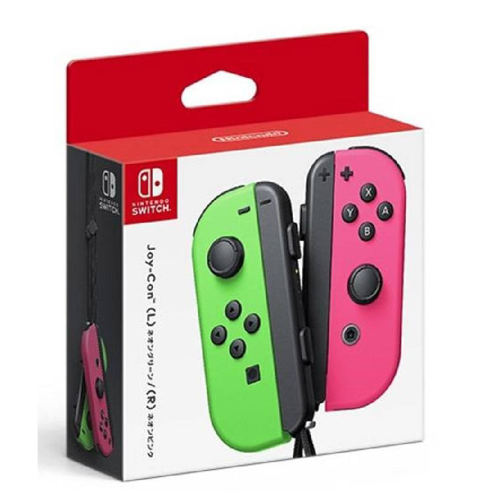 Nintendo Switch Joy-Con 控制器 左右手套組 粉紅綠
