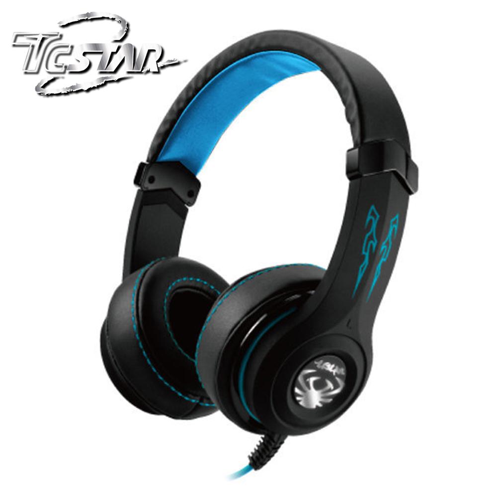 T.C.STAR 玩音魂Play/Gaming頭戴式耳機麥克風 TCE9100BU 藍色