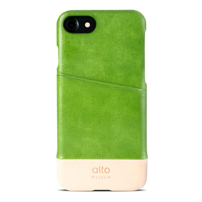 Alto|iPhone 7/8 真皮手機殼背蓋,Metro(萊姆綠/本色)