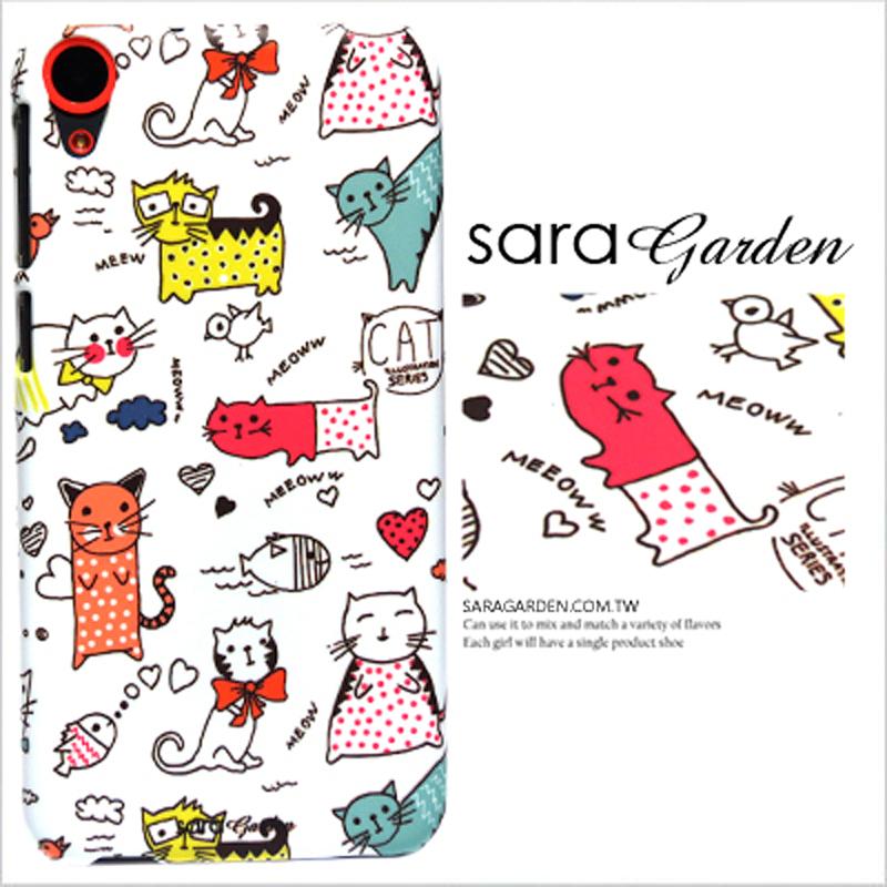 【Sara Garden】客製化 手機殼 Samsung 三星 A8 2018 A5 2018 手繪 插畫 俏皮 貓咪 手工 保護殼 硬殼