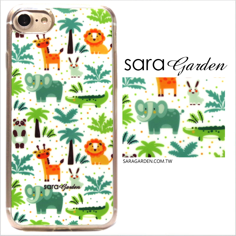【Sara Garden】客製化 軟殼 蘋果 iPhone6 iphone6s i6 i6s 手機殼 保護套 全包邊 掛繩孔 手繪可愛動物