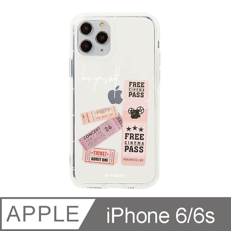 iPhone 6/6s 4.7吋 美式粉紅票卷透明空壓iPhone手機殼