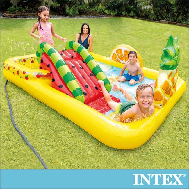 INTEX 水果樂園遊戲池/戲水池244x191cm適用2歲+(57158)