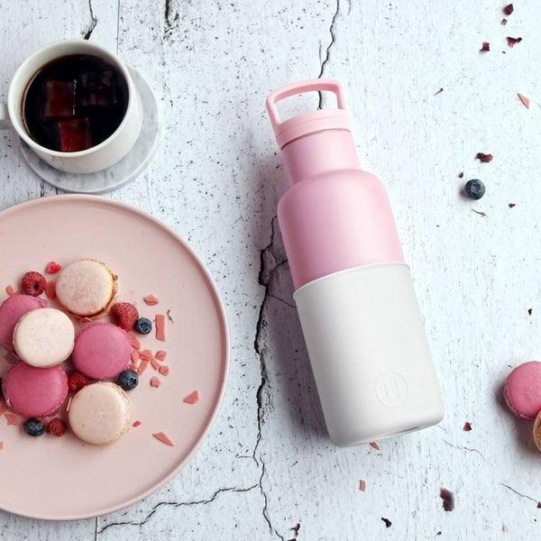 HYDY 美國時尚保溫水瓶 輕量保溫瓶   沁粉甜霜-小 480ml
