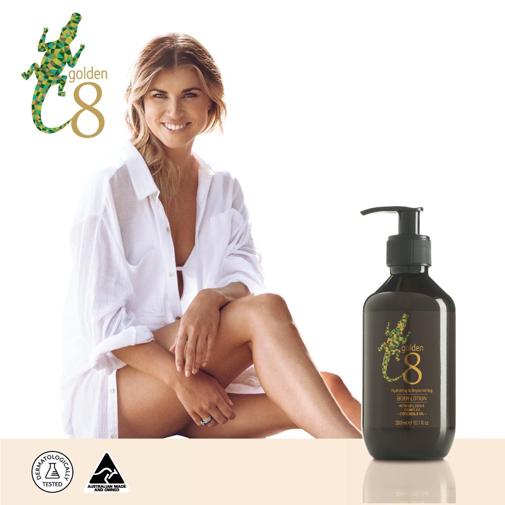 【澳洲Golden 8】鱷魚油極緻修護潤膚乳液300ml