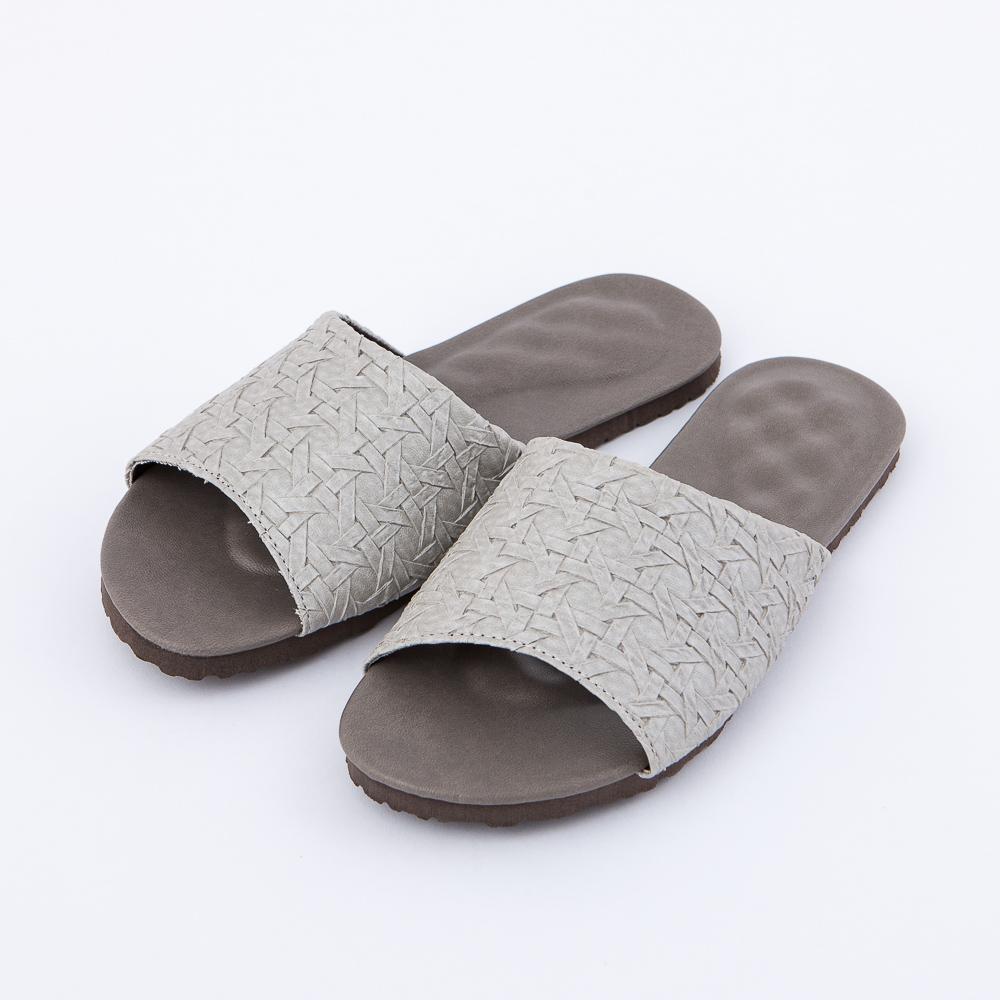 織韻3D立體乳膠拖鞋-銀L-生活工場