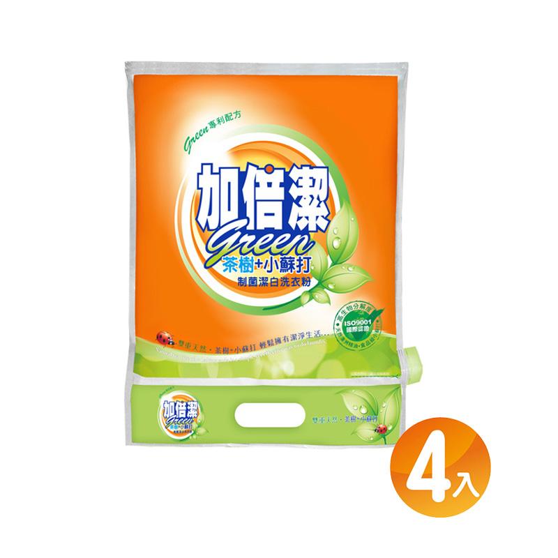 加倍潔 茶樹+小蘇打 制菌潔白洗衣粉1kg x4包