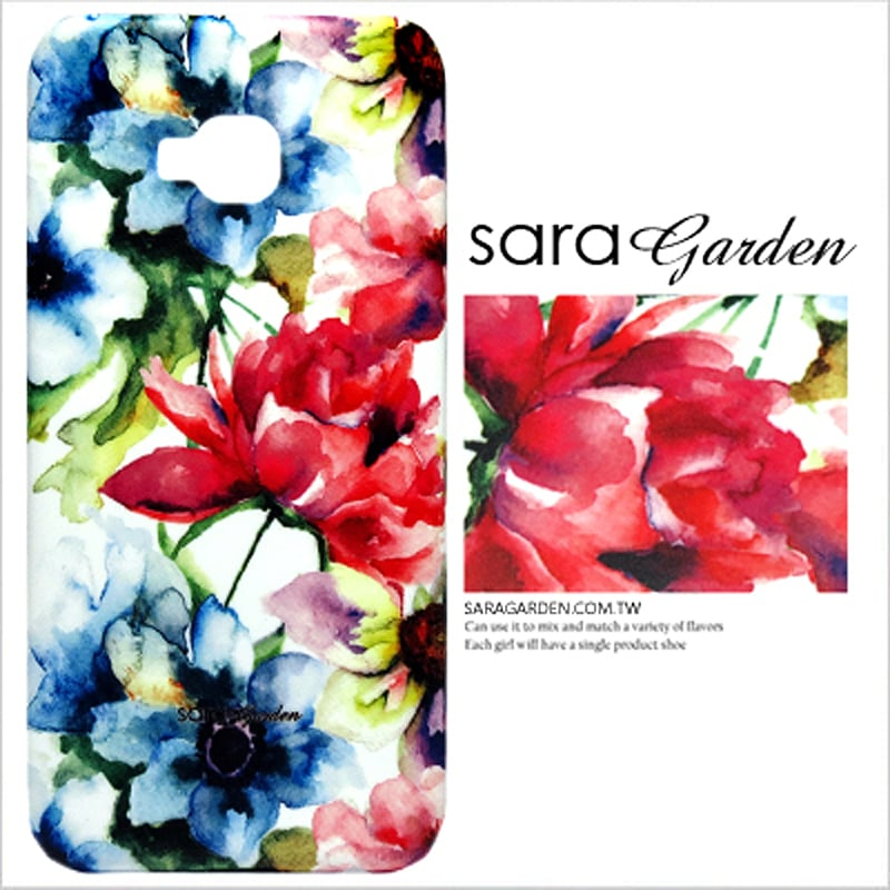 【Sara Garden】客製化 手機殼 蘋果 iPhone7 iphone8 i7 i8 4.7吋 水彩漸層碎花 保護殼 硬殼