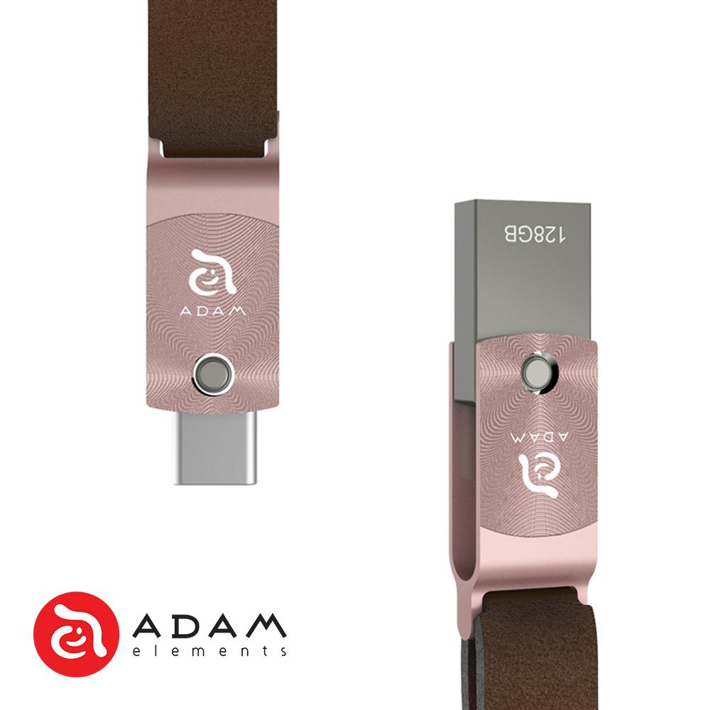 ADAM ROMA 128GB USB-C 雙用旋轉隨身碟 - 玫瑰金
