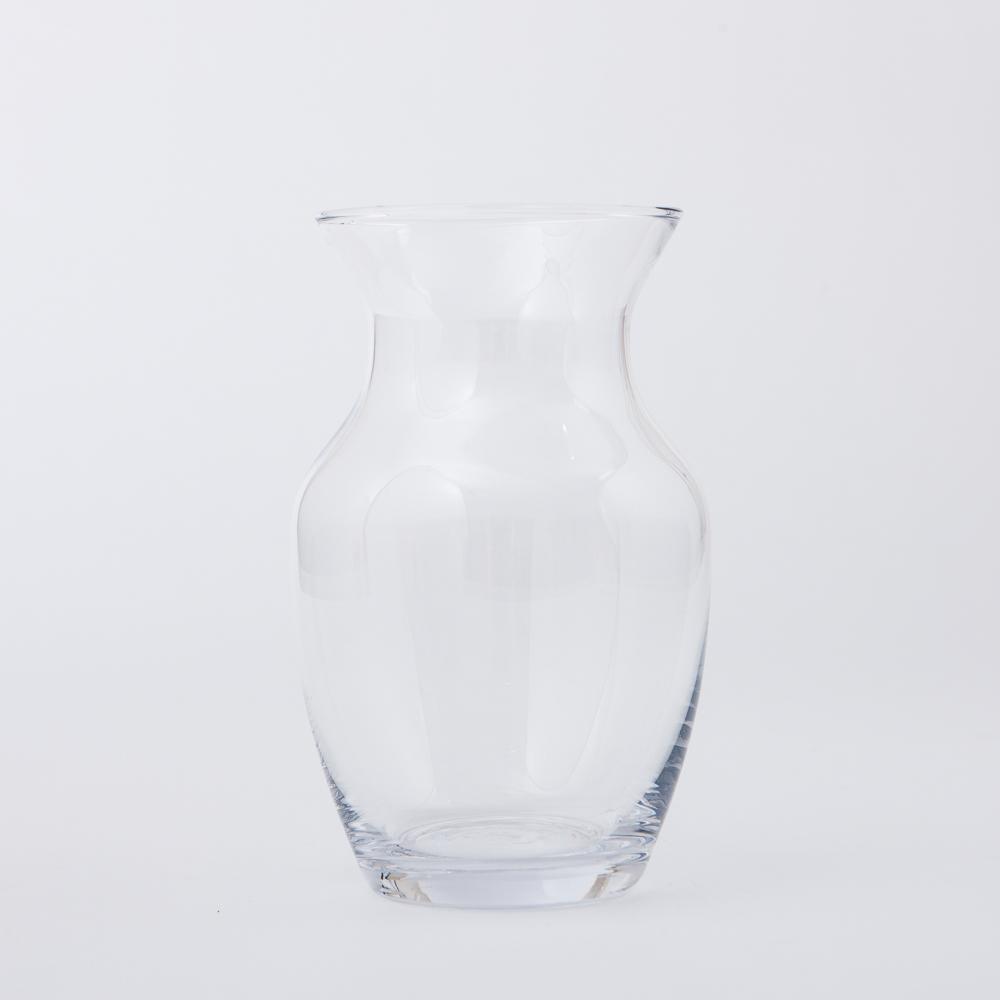 Clear曲線手工花瓶H20cm-生活工場