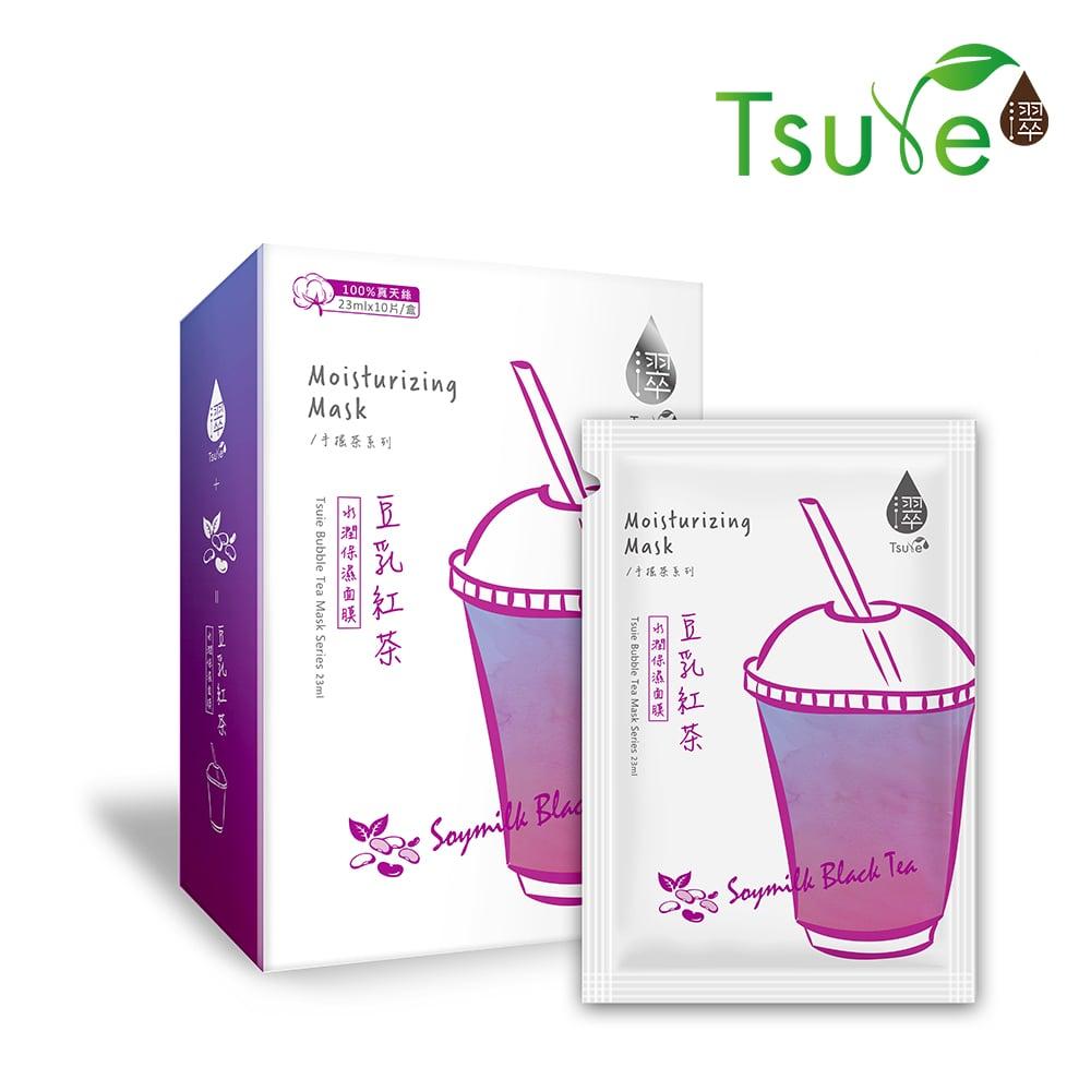 【濢Tsuie】豆乳紅茶 水潤保濕面膜(10片/盒)