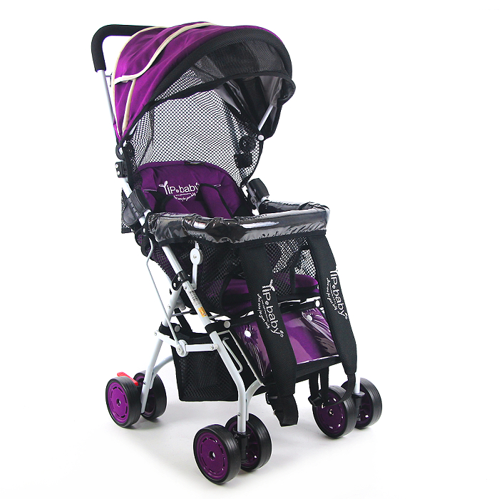 Yip Baby 全罩式多功能揹架推車(專利收折)-紫羅蘭