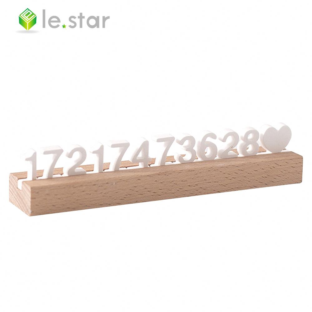lestar 矽藻土DIY數字號碼 臨停車牌擴香器 許願精靈