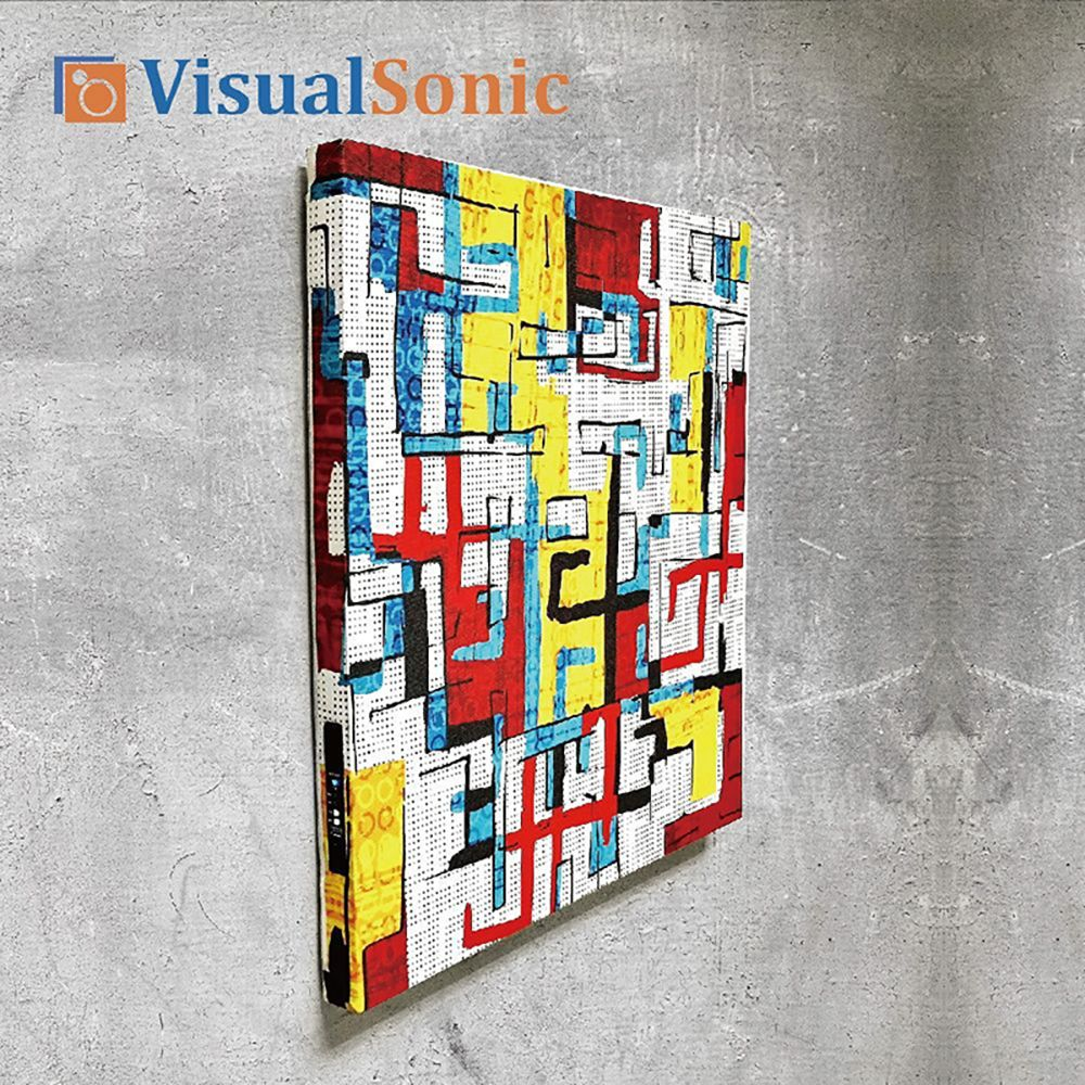 【VISUAL SONIC 夏潮 】超薄藍牙畫布音箱 Illusion
