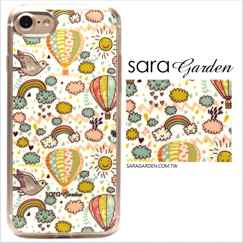【Sara Garden】客製化 軟殼 蘋果 iPhone7 iphone8 i7 i8 4.7吋 手機殼 保護套 全包邊 手繪彩虹童話