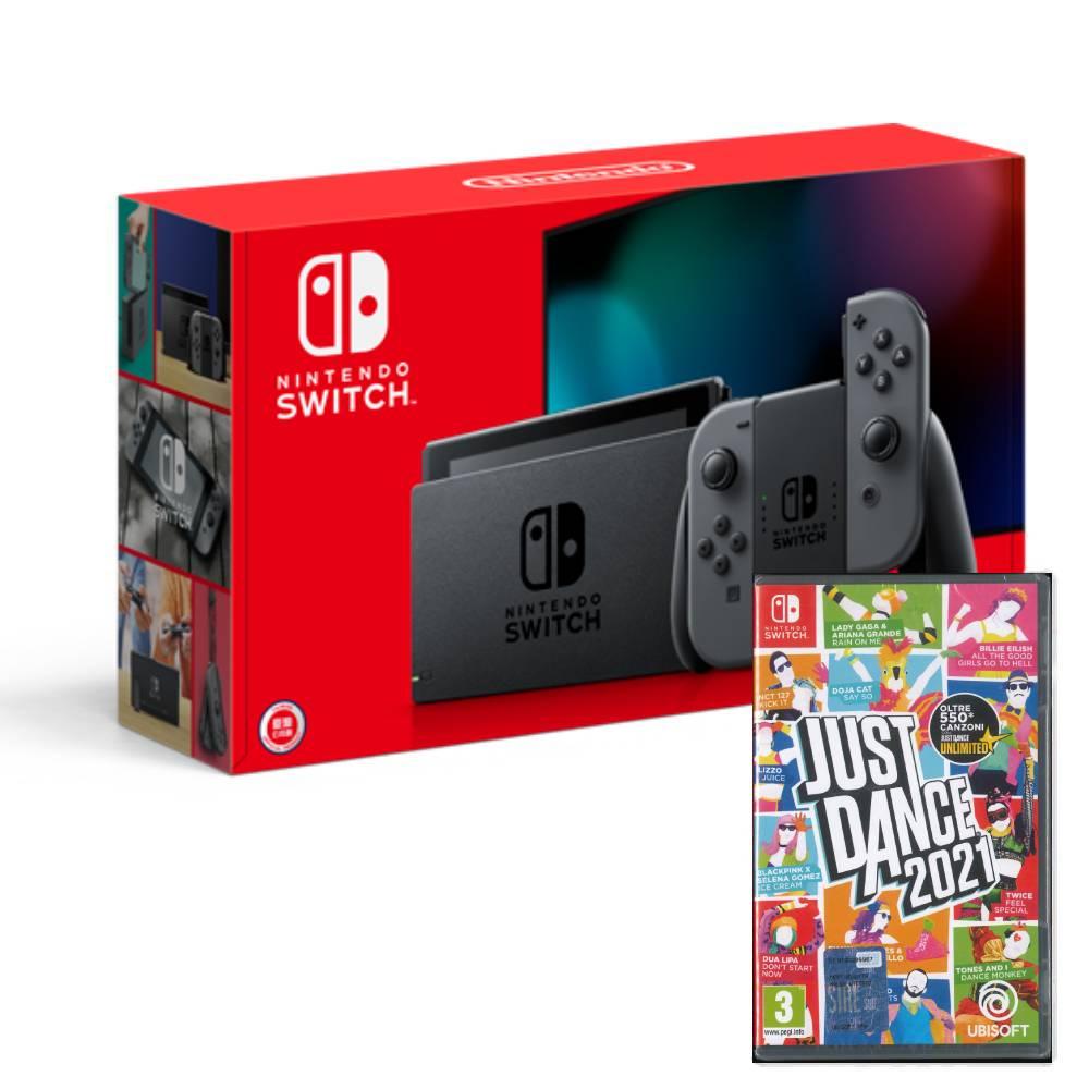 Nintendo Switch 主機 灰黑 (電池加強版)+舞力全開 2021 歐美版