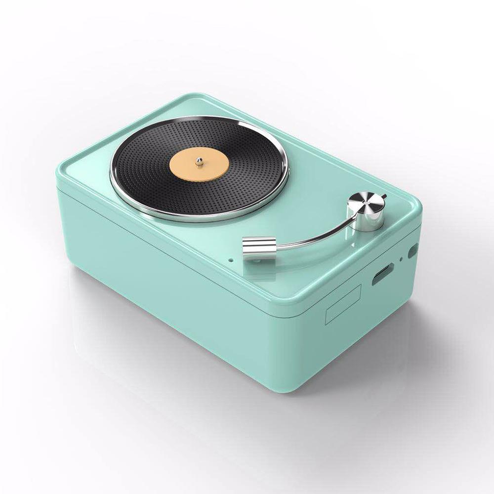復古黑膠機藍牙音箱喇叭-綠
