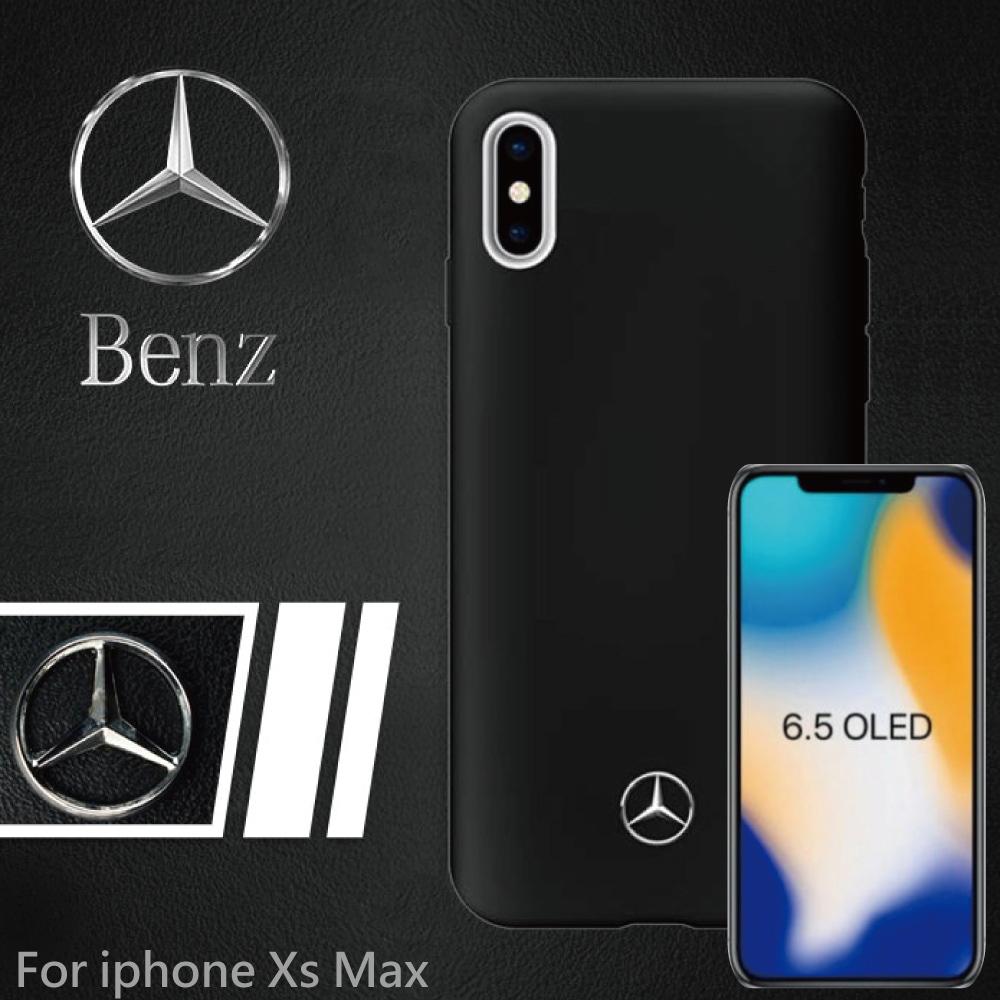 【正版官方授權】BENZ iPhone XS MAX 6.5吋 經典系列背蓋 - 黑色