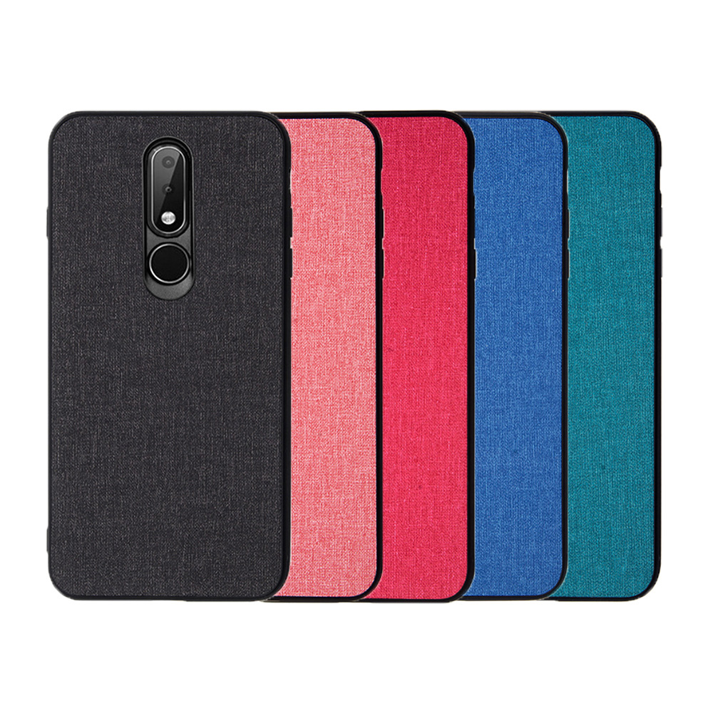 QinD NOKIA 6.1 Plus/X6 布藝保護套(格調藍)